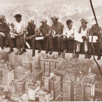 Men On A Beam Lunch Over Manhattan Poster 24x36
