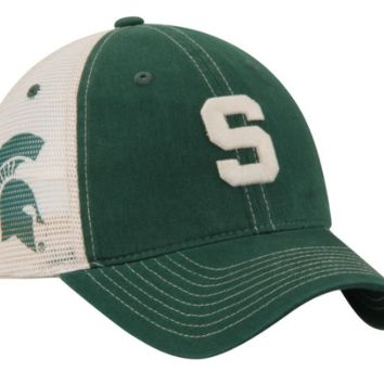 Men's Zephyr Michigan State Spartans Sideout Meshback Slouch Trucker Adjustable Snapback Hat
