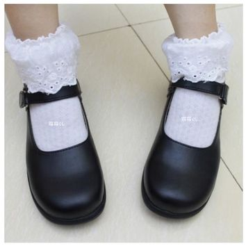 Japanese Anime miku cosplay school shoes lolita punk vocaloid Most use uniform k-on Doll shoes
