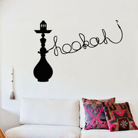 Wall Decal Sticker Hookah Hooka Shisha Lounge Relax Inscription Bar Hause M1568
