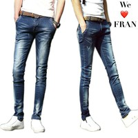 UMMEWALO Skinny Jeans Men Stretch Slim Denim Jeans Mens Casual Cotton Washed Designer Clothes Jeans Masculino Jean Homme