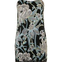 Floral Plisse Slip Dress - Topshop