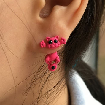 10 Color Fashion Lovely Classic Animal Korean Hot Cute Cat  Earrings For Girl Women Gift KittenUP Jewelry