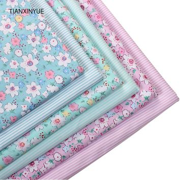TIANXINYUE Wild flower Cotton Fabric Printed Patchwork meter Fabric For Sewing wedding Bedding Pillows Blankets Cushions cloth