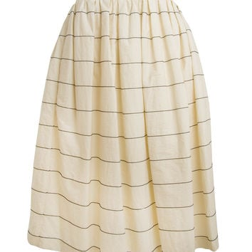 Brunello Cucinelli Monili Stripe Midi Skirt