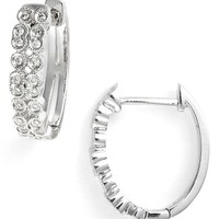 Women's Bony Levy 'Cypress' Diamond Small Hoop Earrings (Limited Edition) (Nordstrom Exclusive)