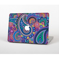 The Bold Colorful Paisley Pattern Skin Set for the Apple MacBook Air 11""