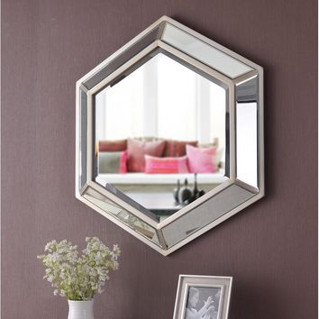 Tulare Hexagonal D-Ring Wall Mounted Accent Mirror