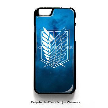 Wings Of Freedom Shingeki No Kyojin Anime for iPhone 4 4S 5 5S 5C 6 6 Plus , iPod Touch 4 5  , Samsung Galaxy S3 S4 S5 Note 3 Note 4 , and HTC One X M7 M8 Case Cover