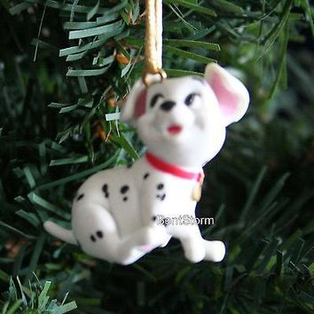 Licensed cool NEW CUSTOM Disney 101 DALMATIANS ROLLY DOG Sitting Christmas Ornament PVC