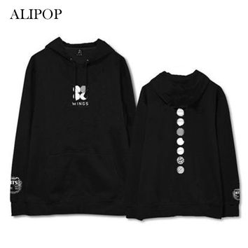ALIPOP Kpop BTS Bangtan Boys WINGS Concert Album Hoodie K-POP Cotton Hoodies Clothes Pullover Printed Long Sleeve Sweatshirts