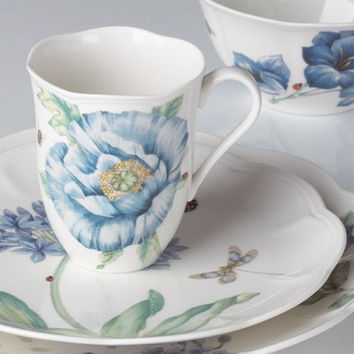 Butterfly Meadow® Blue 4-piece Place Setting by Lenox