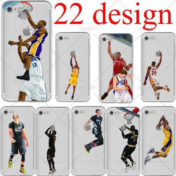 basketball cartoon lebron james kobe bryant soft silicone phone cases cover for iphone 6 6s 7 plus 5s se capinha coque fundas  number 3