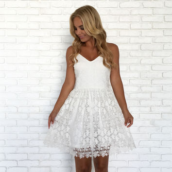 Midsummer Dream Crochet Ivory Dress