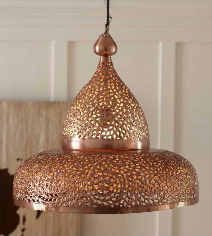 Hanging Lamp Moroccan: Copper Moroccan Hanging Lamp From Vivaterra