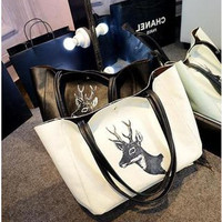 Alphabet Korean Stylish Tote Bag [6581805703]