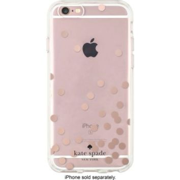 kate spade new york - Hard Shell Clear Case for Apple® iPhone® 6 and 6s - Rose Gold/Clear