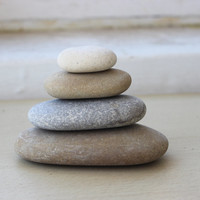 Zen Lake Stones - DIY  Stone Sculpture , Zen Garden Decoration , Natural Home Decorating