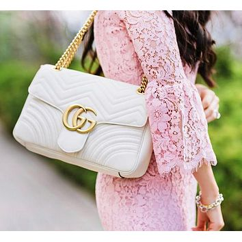 Gucci Popular New Women Leather Handbag Shoulder Bag Crossbody Satchel Bag