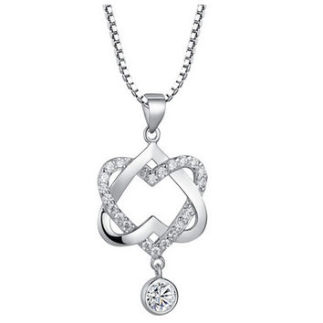 Women's necklaces-Sterling Silver pendants Heart shape