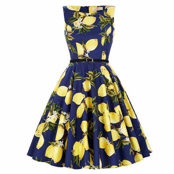 Women Summer Dresses Audrey Hepburn Sexy Robe Rockabilly 50s 60s Vintage Dress Vestidos Pinup Cotton Jurken Retro Casual Dress