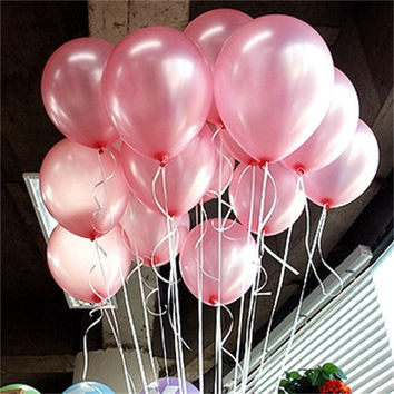 Pink Pearl Latex Balloons 21 Colors Inflatable Round Air Ball Wedding Happy Birthday Party Balloons Decoration