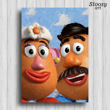 toy story poster mr potato head disney art print toy story nursery