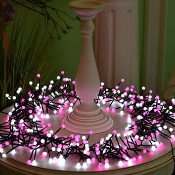 3 Meters 400 Lights Pink + White 2 colors Firecrackers String Lights LED Fairy Lights For Room Courtyard Christmas decoration