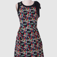 Dancing In The Rain Printed Dress By Tulle