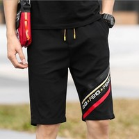 FENDI Summer Fashion Men Casual Stripe Print Sport Shorts