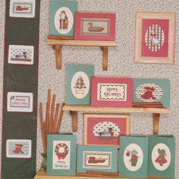The Cinnamon Season cross stitch pattern booklet small projects for an old fashioned Christmas cards ornaments Country Cross Stitch book 23