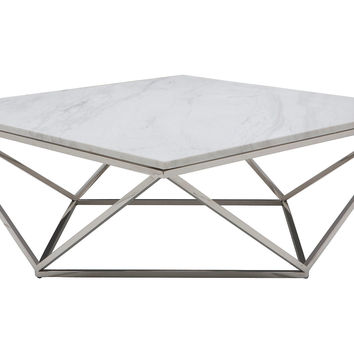 "Jasmine Marble 36"" Coffee Table, Coffee Table Base, Sofa Table"