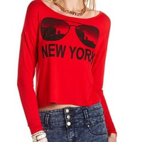 New York Graphic Crop Top: Charlotte Russe