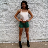 Nothing But Love Shorts, Teal