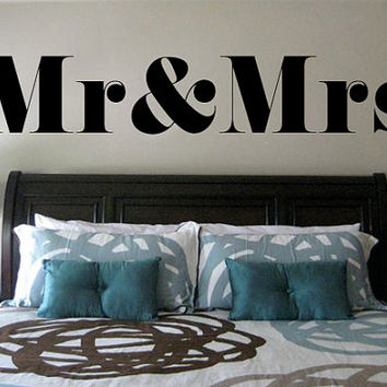 Mr & Mrs Bedroom Wall Decal | Wedding Gift | Couple Wall Decal | Bridal Shower Gift