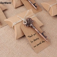 OurWarm Wedding Souvenirs 10Pcs/lot Bottle Opener+Tags+Candy Box Wedding Favors and Gifts for Guest Event Party Supplies 2018