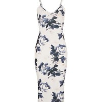 Parisian White Floral Print Strappy Dress