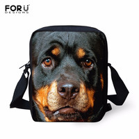 FORUDESIGNS 2016 Casual Brand Animal Rottweiler Pattern Messenger Bag for Women Mini Teenager Girls Crossbody Bag Mini Bags