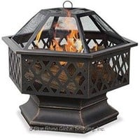 UniFlame Hex-Shaped Lattice Firepit
