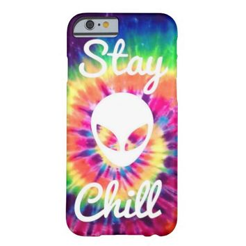 Stay Chill Alien Tie Dye iPhone 6 case