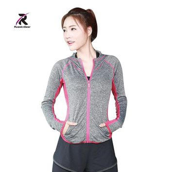 Yoga Shirts Womens Long Sleeve Running Ladies Compression Top Under Base Layer Jerseys Sportswear Sports Shirts With hood