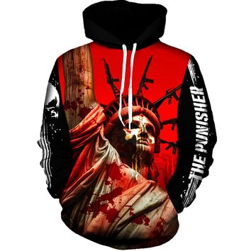 The Punisher Statue of Liberty Hoodie