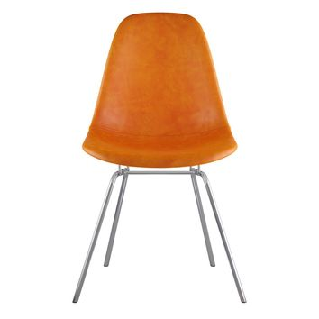 Mid Century Classroom Side Chair Burnt Orange