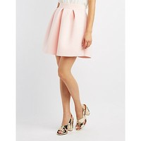 Pleated Scuba Skater Skirt | Charlotte Russe