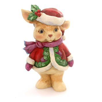 Jim Shore NO BUNNY'S MORE FESTIVE Polyresin Christmas Santa  Bunny 4053822