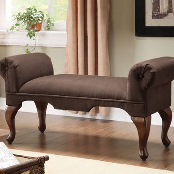 Aston Bench w/Rolled Arm, Chocolate Mfb