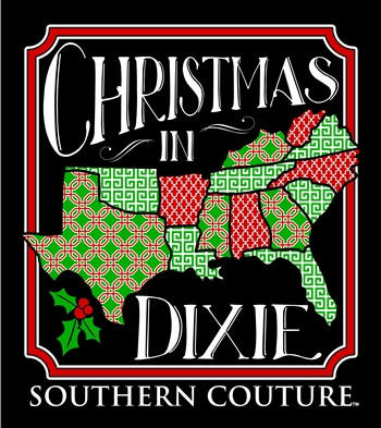 Christmas In Dixie.Southern Couture Christmas In Dixie Southern Long Sleeve T Shirt