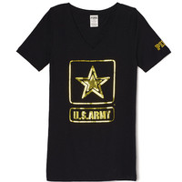 Army Fitted V-Neck Tee - PINK - Victoria's Secret