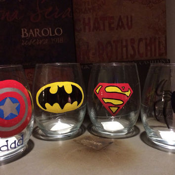 Superhero Glasses, batman, superman, Spider-Man, captain America