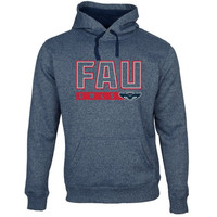 FAU Owls Centurion Marled Pullover Hoodie - Navy Blue